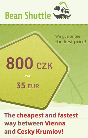 Bean Shuttle - daily shuttle bus between Cesky Krumlov and Vienna from 800 CZK per person